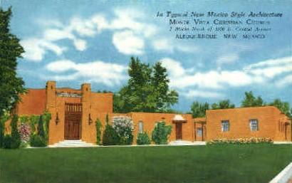 New Mexico Style Archetecture - Albuquerque Postcard