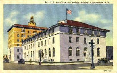 Post Office & Federal Bldg. - Albuquerque, New Mexico NM Postcard