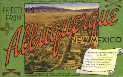 Greetings From - Albuquerque, New Mexico NM Postcard