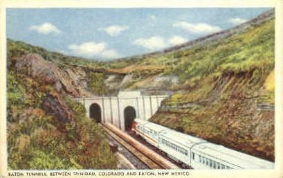 Raton Tunnels - New Mexico NM Postcard