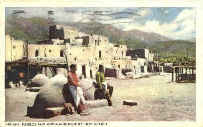 Indians Pueblos and Mtns - Misc, New Mexico NM Postcard