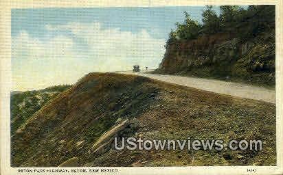 Raton Pass Highway - New Mexico NM Postcard