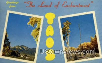 Greetings From - Taos, New Mexico NM Postcard