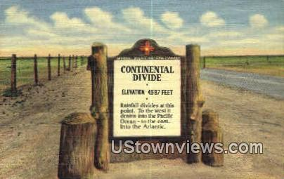 Continental Divide - Lordsburg, New Mexico NM Postcard