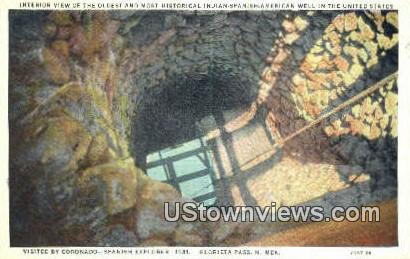 Indian Spanish American Well - Glorieta Pass, New Mexico NM Postcard