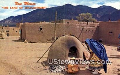 Taos Pueblo, New Mexico     ;     Taos Pueblo, NM Postcard