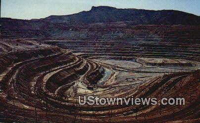 Santa Rita Open Pit Copper Mine - Silver City, New Mexico NM Postcard
