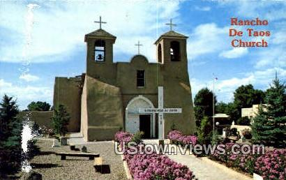 Old Mission of St Francis - Ranchos de Taos, New Mexico NM Postcard
