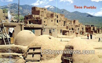 Taos Pueblo - New Mexico NM Postcard