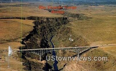 Rio Grande Gorge Bridge - Taos, New Mexico NM Postcard