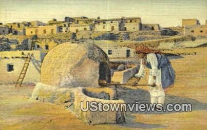 Pueblo Indian Woman - Misc, New Mexico NM Postcard
