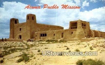 Acoma, NM     ;     Acoma, New Mexico Postcard