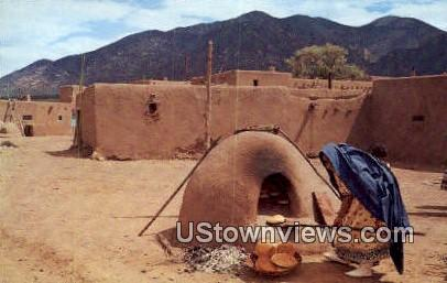 Indian Women - Taos Pueblo, New Mexico NM Postcard