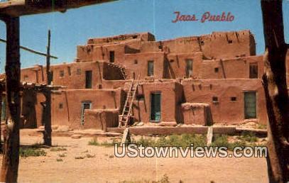 Taos Pueblo, NM     ;     Taos Pueblo, New Mexico Postcard