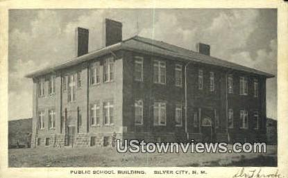Public School Bldg - Silver City, New Mexico NM Postcard