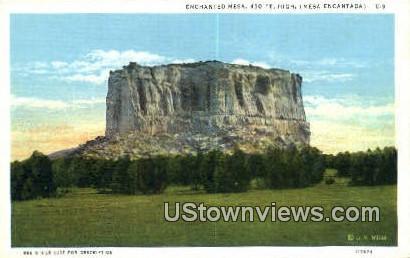 Enchanted Mesa - Mesa Encantada, New Mexico NM Postcard