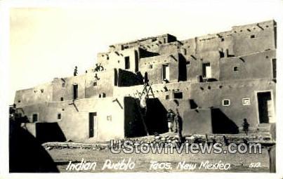 Real Photo - Indian Pueblo - Taos, New Mexico NM Postcard