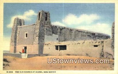 Old Church - Acoma, New Mexico NM Postcard
