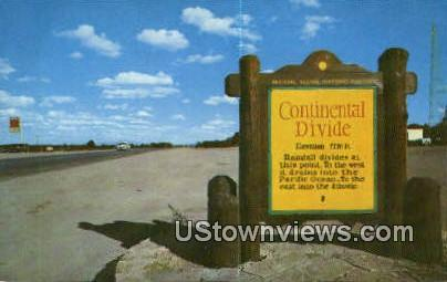 Continental Divide, New Mexico     ;     Continental Divide, NM Postcard