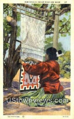 Indian Rugs - Misc, New Mexico NM Postcard