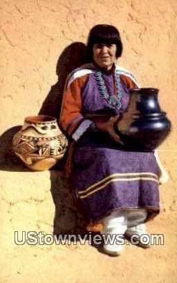 Maria, Pottery Maker - Misc, New Mexico NM Postcard