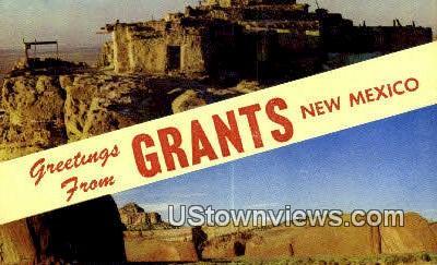 Grants, NM     ;     Grants, New Mexico Postcard