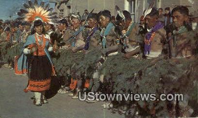 Corn Maiden Dance - San Juan Pueblo, New Mexico NM Postcard