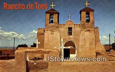 Rancho De Taos Church - New Mexico NM Postcard