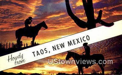 Taos, NM     ;     Taos, New Mexico Postcard