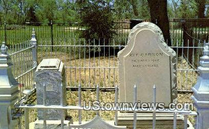 Kit Carson's Grave - Taos, New Mexico NM Postcard