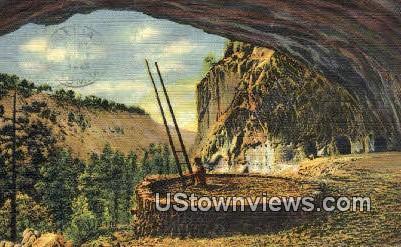 Kiva, Cliff Dwellers - Rito de Los Frijoles Canyon, New Mexico NM Postcard