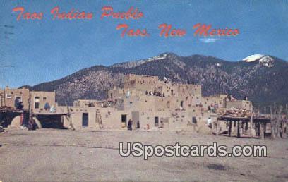 Taos Indian Pueblo - New Mexico NM Postcard