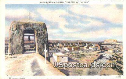 Indian Pueblo - Acoma, New Mexico NM Postcard