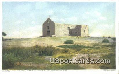 Indian Church, Pueblo of Sandia - Albuquerque, New Mexico NM Postcard