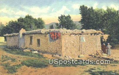 Mew Mexican Jacals or Mud Huts - Misc, New Mexico NM Postcard