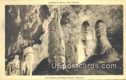 Twin Domes & Giant Column - Carlsbad Caverns, New Mexico NM Postcard
