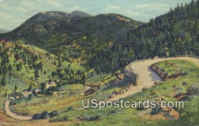 Double Horseshoe Curve - Taos, New Mexico NM Postcard