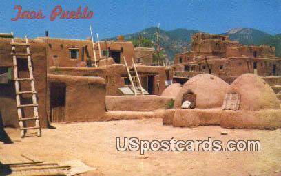 Taos Pueblo, New Mexico Postcard       ;       Taos Pueblo, NM