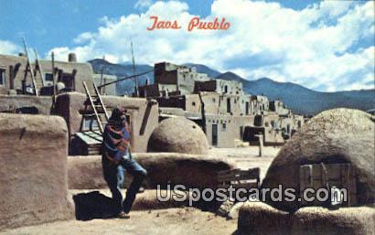 Taos Pueblo, NM Postcard       ;       Taos Pueblo, New Mexico
