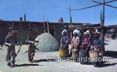 Ceremonial Dances - Misc, New Mexico NM Postcard