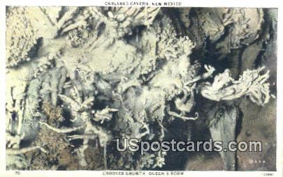 Crooked Growth, Queen's Room - Carlsbad Caverns, New Mexico NM Postcard