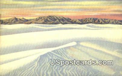 Rippling White Sands - Alamogordo, New Mexico NM Postcard