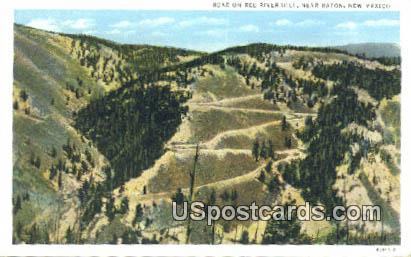 Road on Red River Hill - Raton, New Mexico NM Postcard