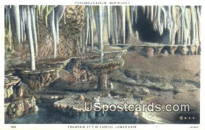 Fountain of the Fairies, Lower Cave - Carlsbad Caverns, New Mexico NM Postcard