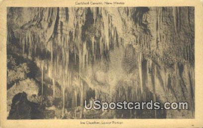 Ice Chamber, Lower Portion - Carlsbad Caverns, New Mexico NM Postcard