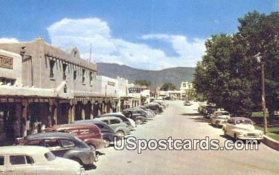 Street on the Plaza - Taos, New Mexico NM Postcard