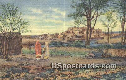 Indian Pueblo - Taos, New Mexico NM Postcard