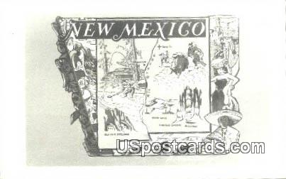 Misc, New Mexico Postcard       ;       Misc, NM
