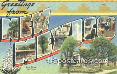 Greetings from, New Mexico Postcard       ;       Greetings from, NM