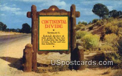 Continental Divide, NM Postcard       ;       Continental Divide, New Mexico